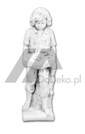 Decorative sculpture - a boy with puppies